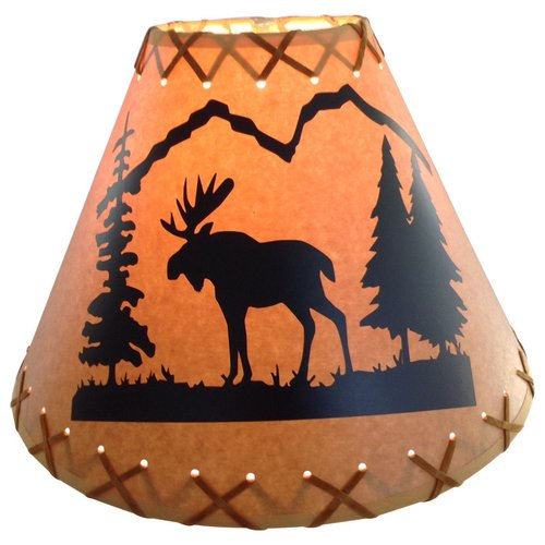 Millwood Pines Moose 9'' Paper Empire Lamp Shade