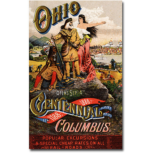 "Trademark Art ""Ohio Central Exposition, 1888"" Canvas Wall Art"