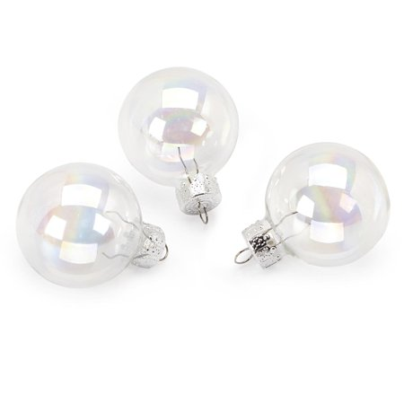3 Pack Glass Ball Ornaments (Iridescent Glass Ornaments: 35mm Glass Balls, 20 pack)