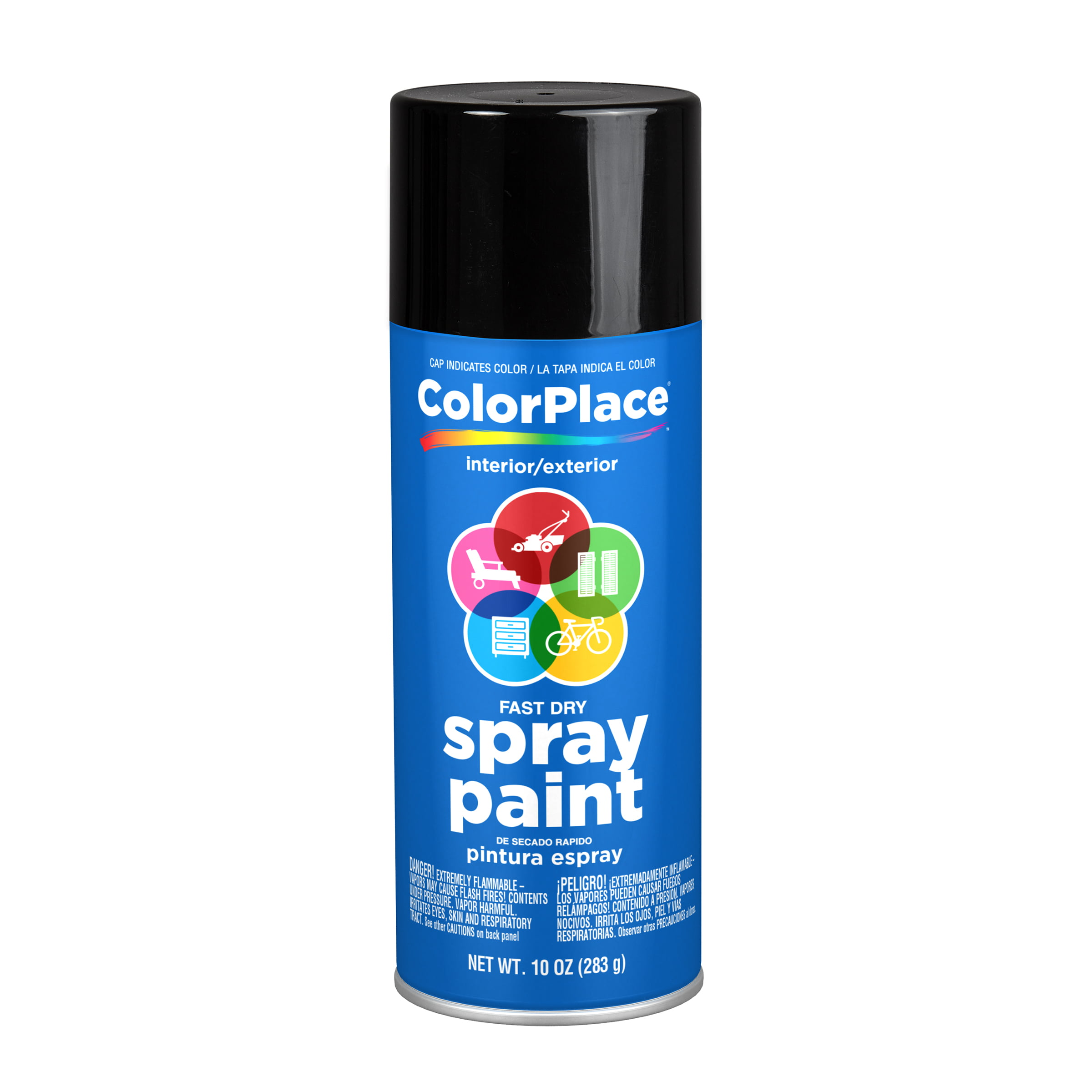 Colorplace Gloss Spray Paint Black Walmart Com