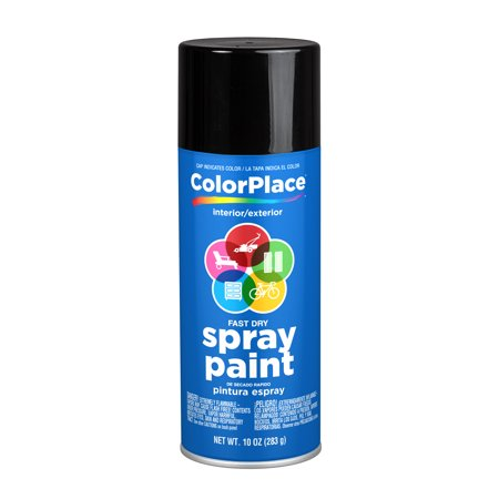 ColorPlace Gloss Spray Paint, Black