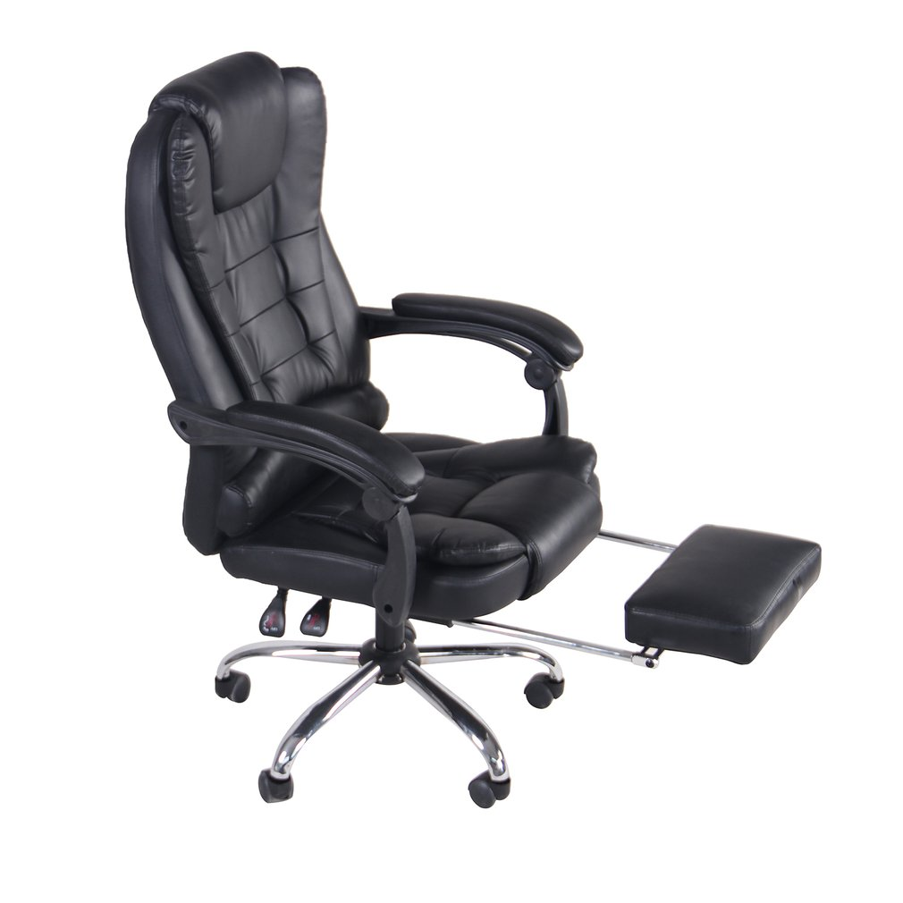 PU Leather Executive Ergonomic Game Chair With Footrest
