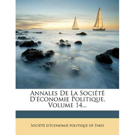 Annales de La Societe D'Economie Politique, Volume 14... - image 1 of 1