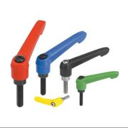 KIPP 06610-30884X35 Adjustable Handles,1.38,M8,Red