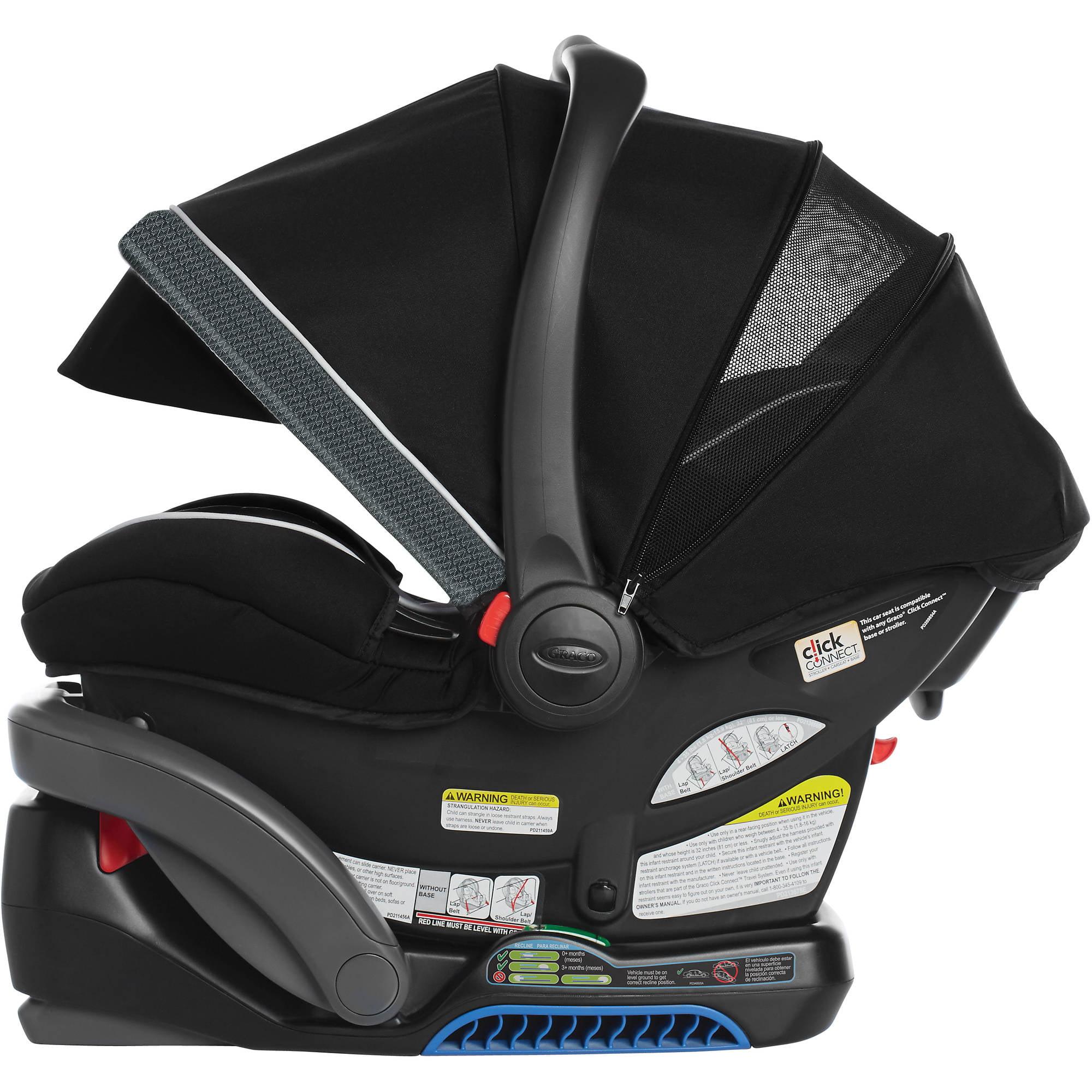 Graco Snugride Snuglock 35 Elite Infant Car Seat Spencer With Nuk Simply Natural 5oz Bottle 1 Pack Walmart Com