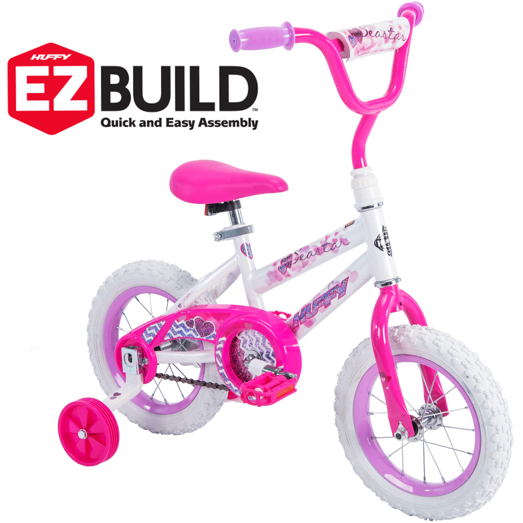 "Huffy 12"" Sea Star Girls' EZ Build Bike, Pink"