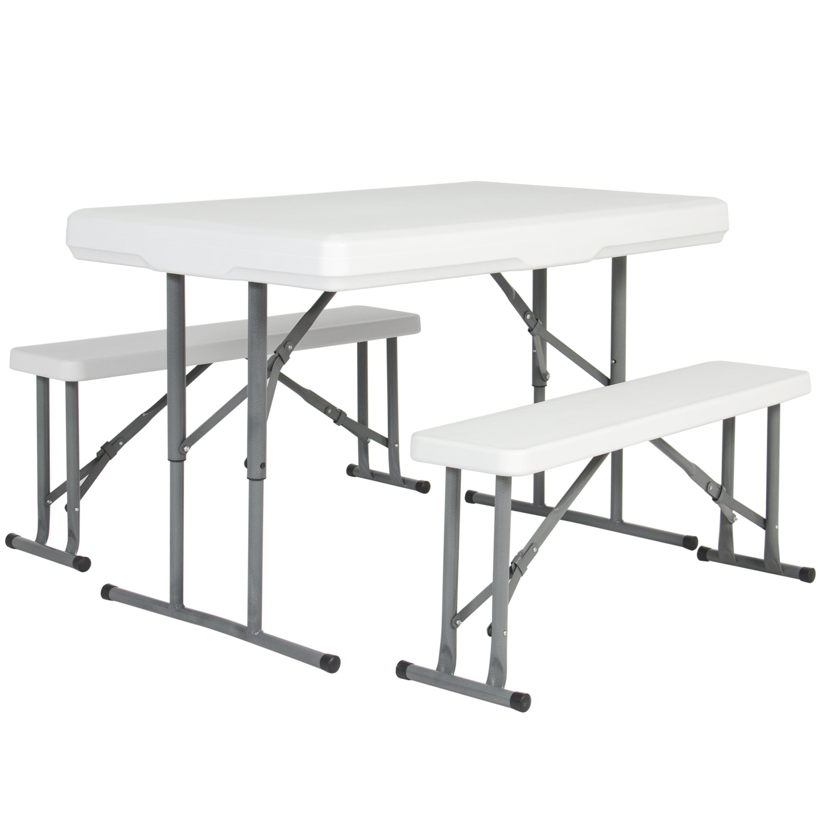 Best Choice Products Folding Table & Benches Portable Indoor Outdoor Picnic Party Dining Kitchen by