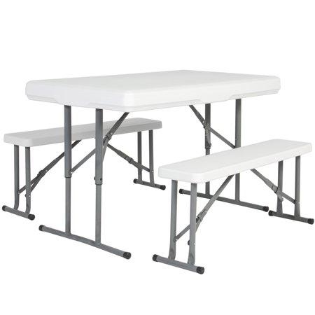 Best Choice Products Folding Table   Benches Portable Indoor Outdoor Picnic Party Dining Kitchen