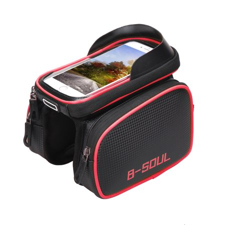 Bike Top Tube Phone Bag Bicycle Cycling Front Frame Bag Mobile Phone Holder Pouch Bike Phone Attachment Mount