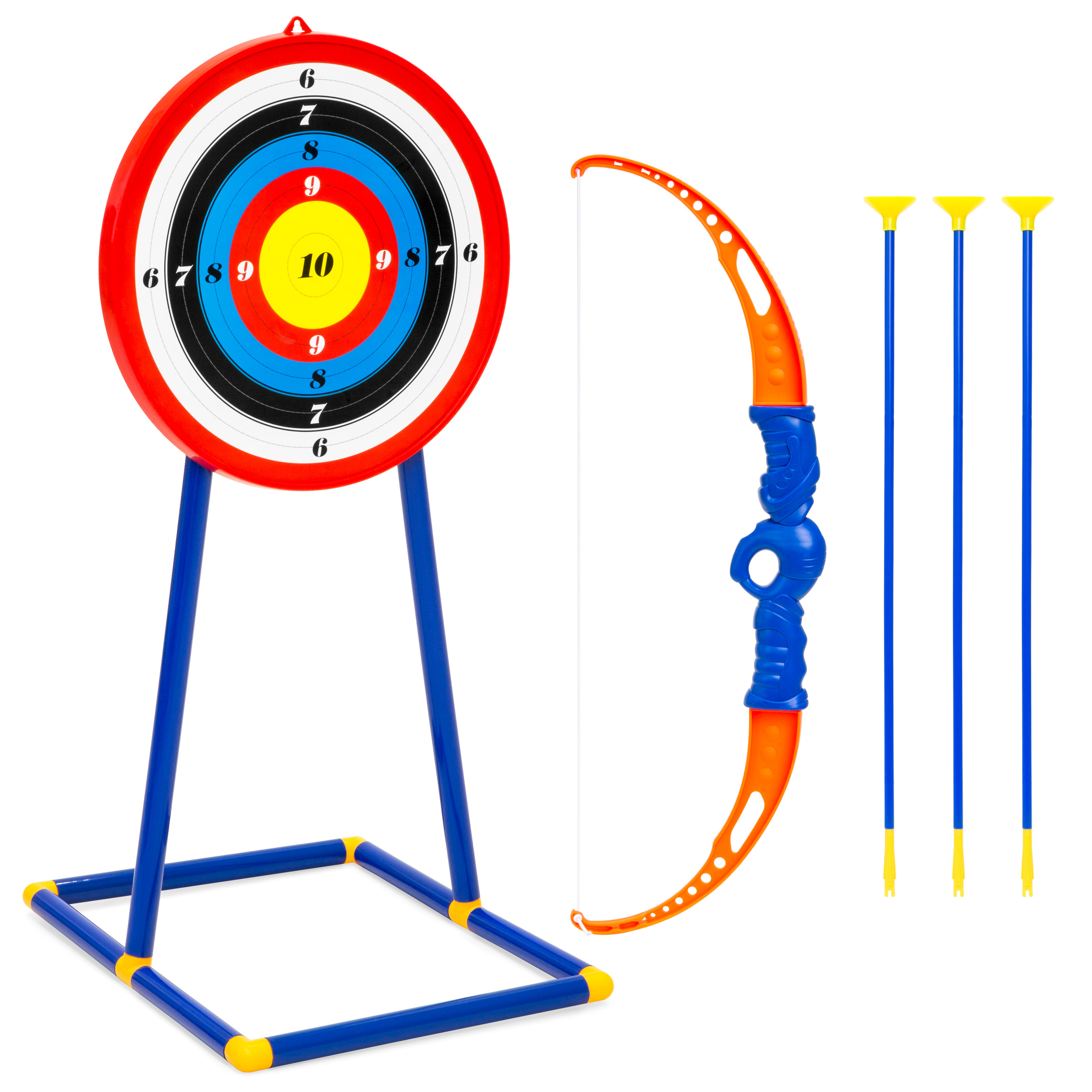 Best Choice Products Kids Toy Archery Set w/ Bow, Arrows, Bullseye Target - Multicolor