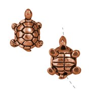 Copper Plated Pewter Turtle Beads 15mm (2)