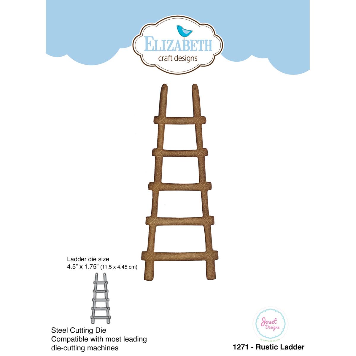 """Elizabeth Craft Metal Die By Joset Designs-Rustic Ladder, 4.5""""X1.75"""""""