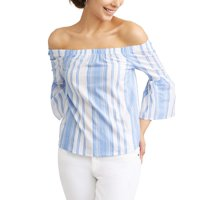 Deals on No Comment Women's Printed Off the Shoulder Top