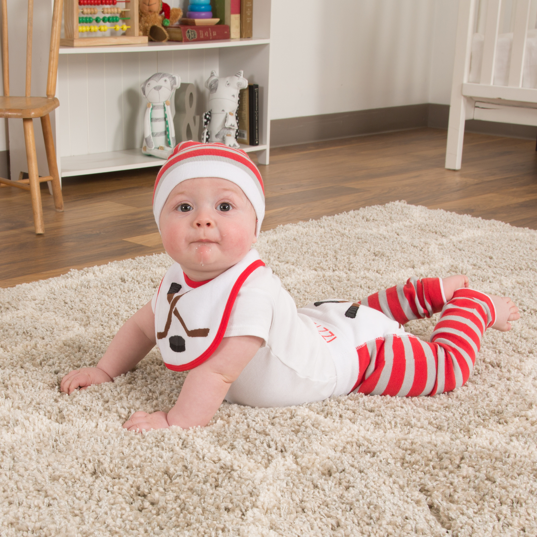 0eb3ea4ab Pavilion Gift Company - Red & Gray Hockey Baby Leggings - Walmart.com