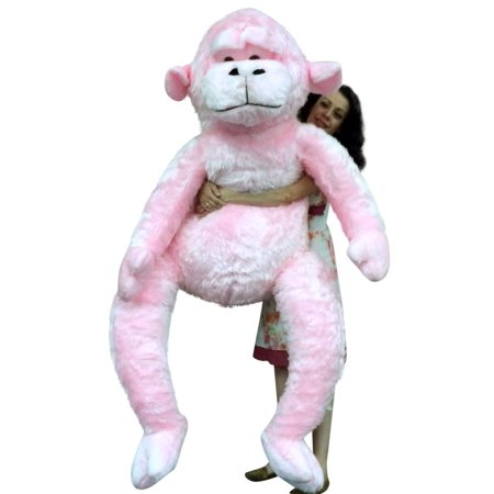 giant stuffed 6 foot pink gorilla 72 inch soft huge plush monkey made in usa. Black Bedroom Furniture Sets. Home Design Ideas