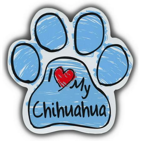 Scribble Paw Dog Magnets: I Love My Chihuahua   Cars, Trucks, Refrigerators ()