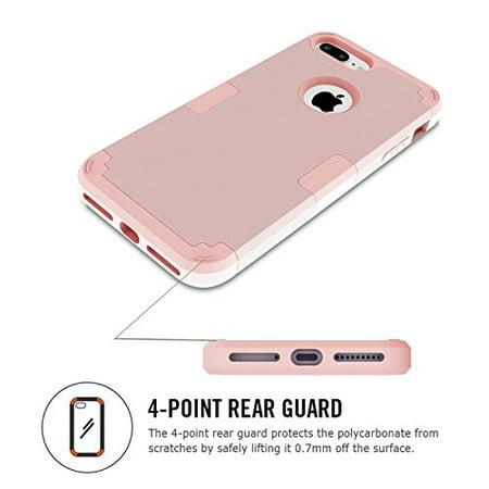 Coque LONTECT iPhone 7 Plus Coque de protection intégrale antichoc robuste hybride avec double couche [PC dur silicone souple] Protection contre les ...
