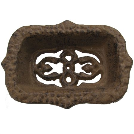 - Cast Iron Antique Style Ornate Bathroom Soap Dish French Country Chic Bath Decor