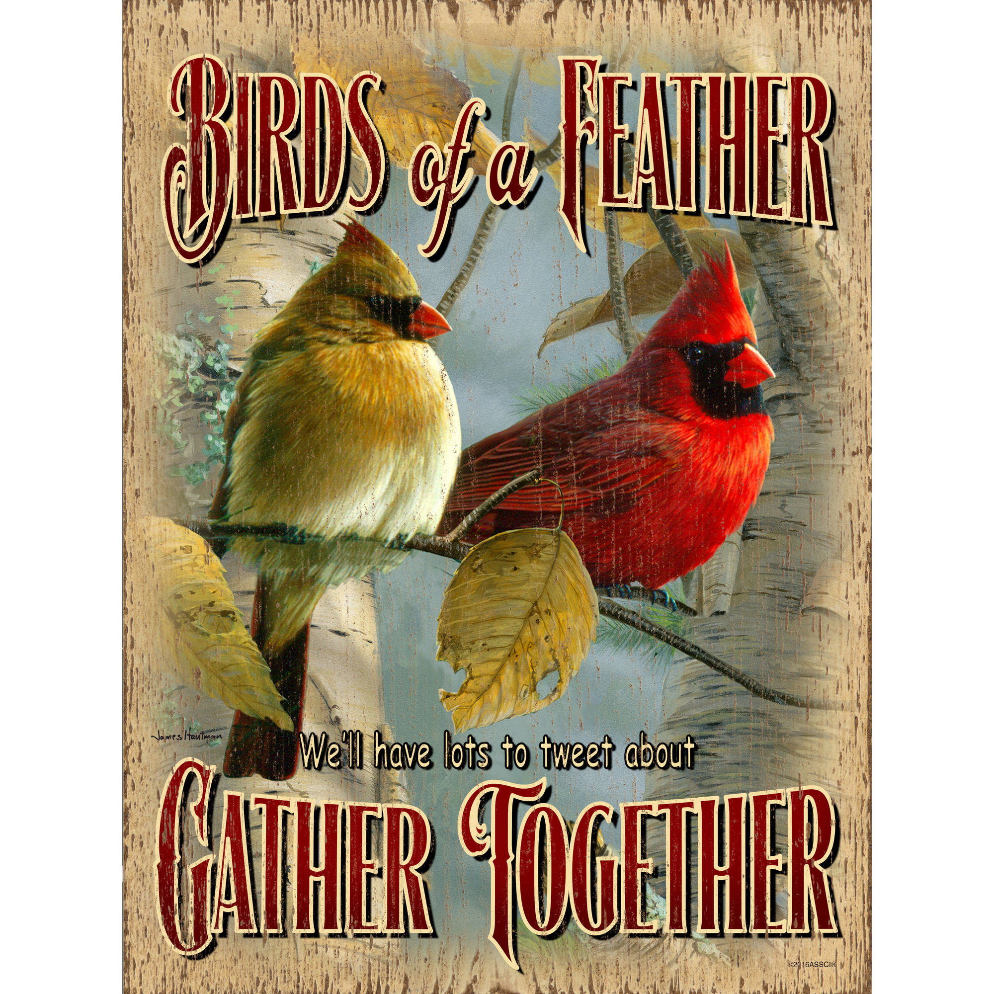 American Sportsman Sign Company Birds of a Feather Flock Together Sign Textured, Indoor   Outdoor Plaque, UV Printed... by American Sportsman Sign Company