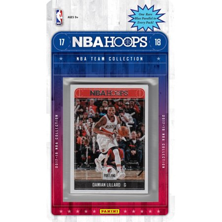 Portland Trail Blazers 2017 2018 Hoops Basketball Factory Sealed 11 Card NBA Licensed Team Set with Damian Lillard, Zach Collins and Caleb Swanigan Rookies plus