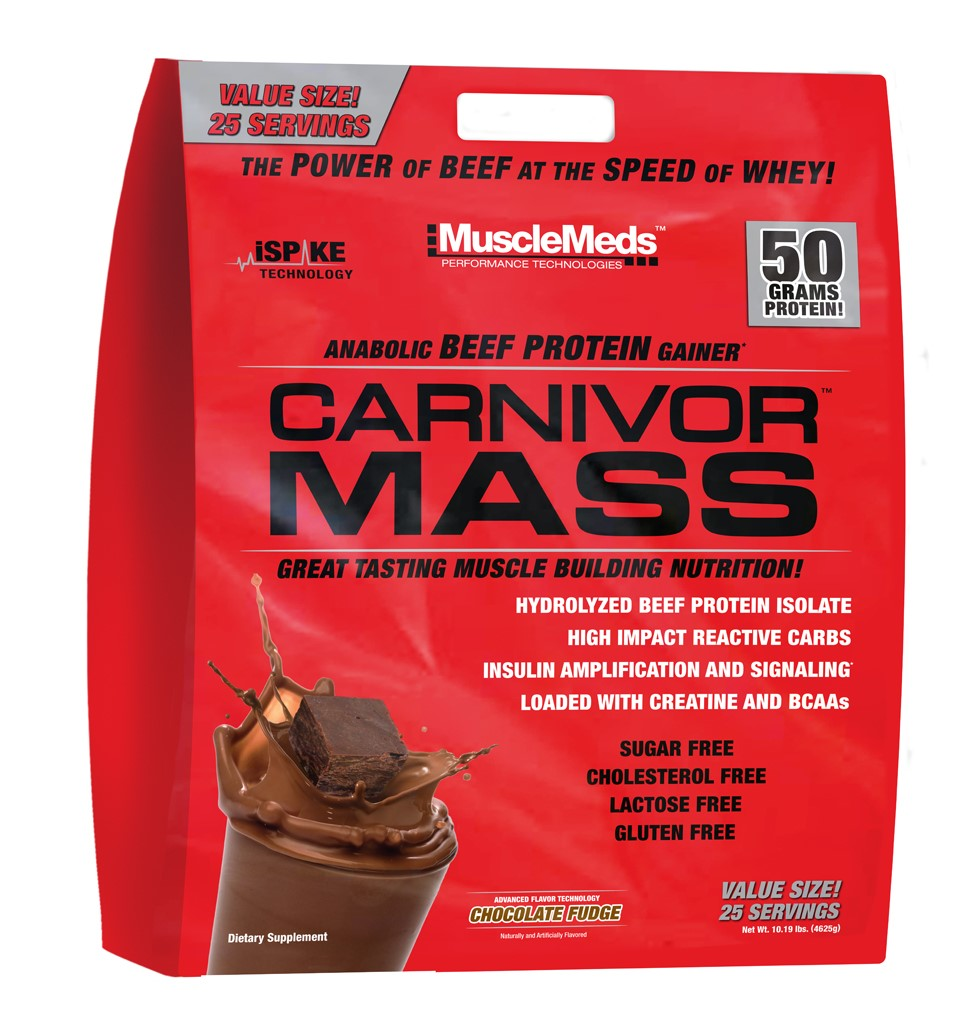 Muscle Meds Carnivor Mass, Chocolate, 10 Lb