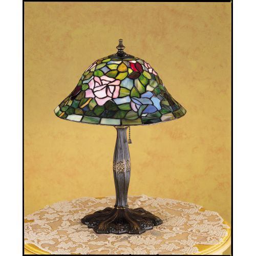 Meyda Tiffany 26321 Stained Glass   Tiffany Accent Table Lamp from the Tiffany Rosebush Collection by Meyda