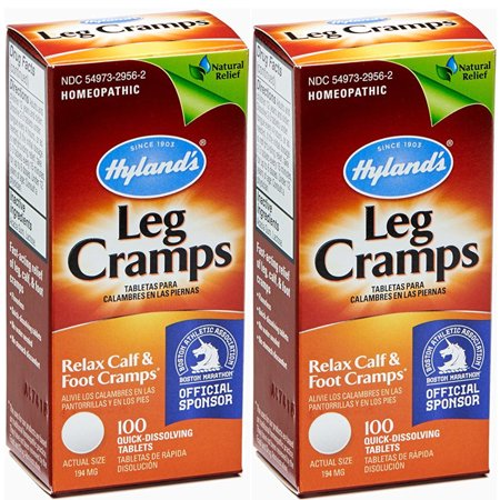 2 Pack Hyland's Leg Cramps, Relax Calf & Foot Cramps - 100 Tablets