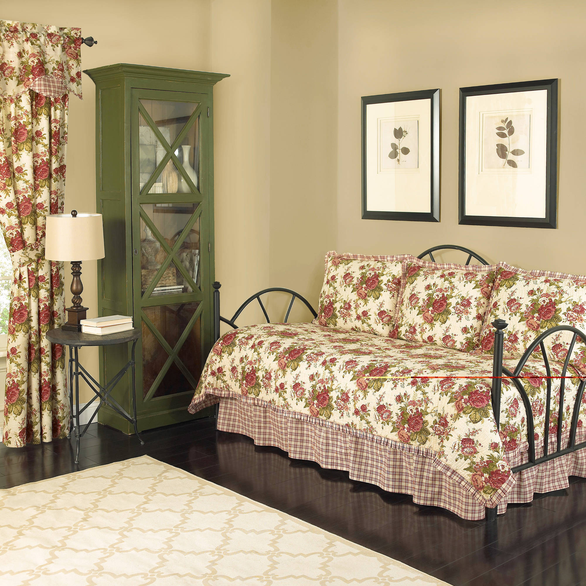 Waverly Norfolk Reversible Quilt Daybed Collection, 5-Piece