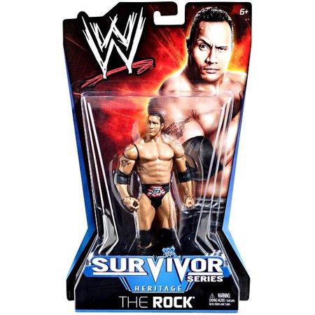 The Rock Action Figure Pay Per View Series 11 Survivor Series (Black Heritage Series)