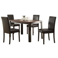 ACME Kylan 5 Piece Dining Set in Dark Cherry and Espresso