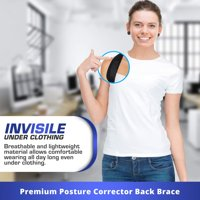 Posture Corrector For Men And Women - USA Designed Adjustable Upper Back Brace For Clavicle Support and Providing Pain Relief From Neck, Back and Shoulder Disposable Mask (Universal)