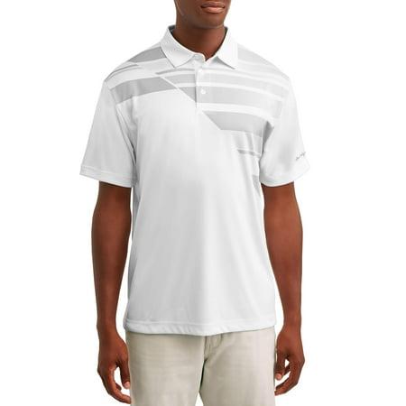 Ben Hogan Men's Performance Short Sleeve Printed Golf Polo Shirt 15 Satin Nickel Polo