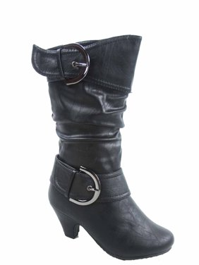 d7e8ba60d10 Product Image Auto 9k Youth Girl s Kid s Zipper Low Heel Round Toe Buckle  Dress Boot