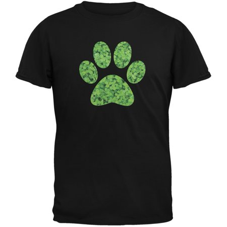 St. Patricks Day - Dog Paw Black Adult - St Patrick Day Crafts For Adults