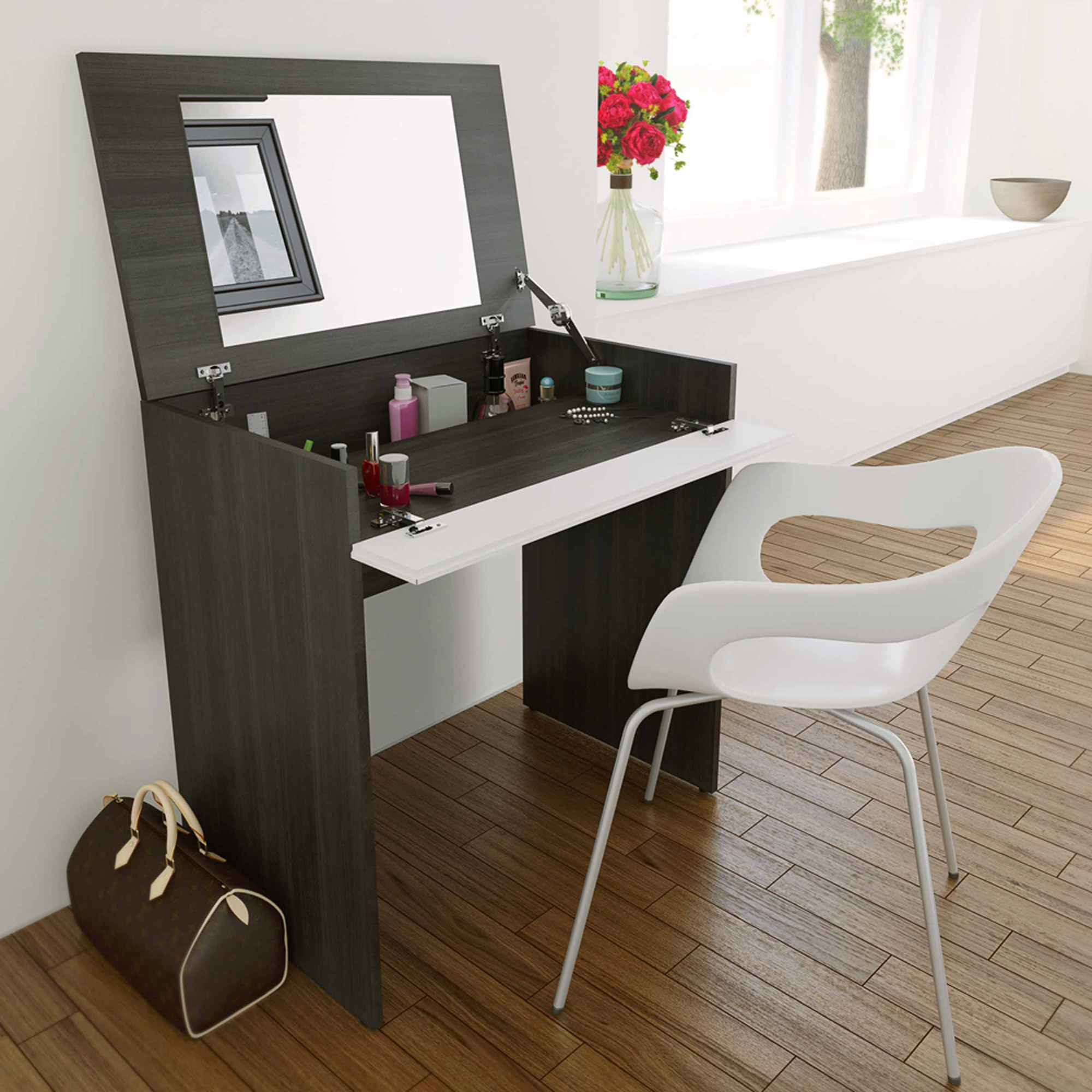 Makeup vanity table with lights - Nexera Allure Vanity