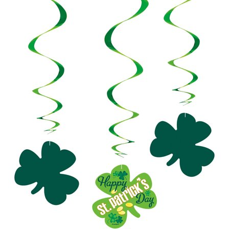 St Patrick's Day Decoration Ideas (St. Patrick's Day Argyle Hanging Decorations, 26in,)