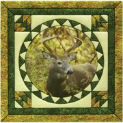 "Trophy Buck Photo Quilt Magic Kit-12""X12"""