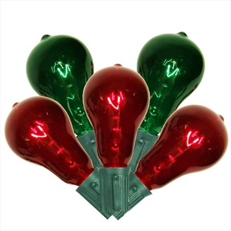 Northlight Transparent Red And Green Ps50 Edison Style Christmas Lights  44  Green Wire  44  Set Of 10