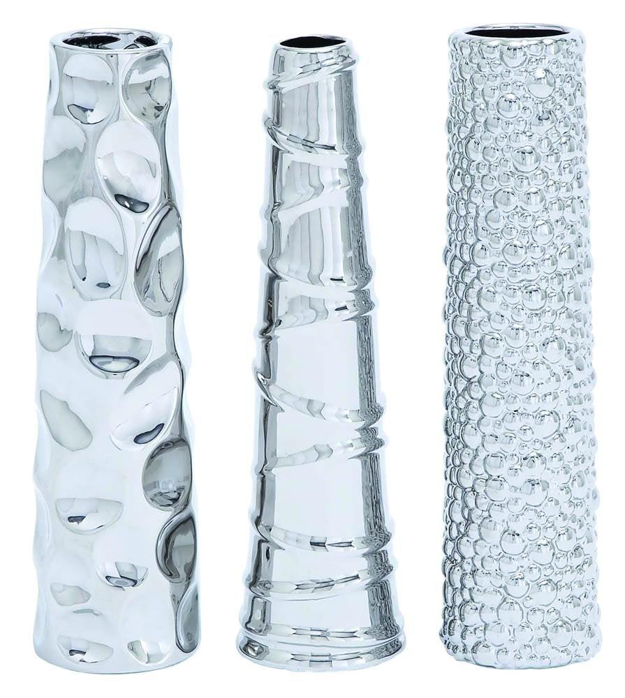3-Pc Contemporary Ceramic Vase Set