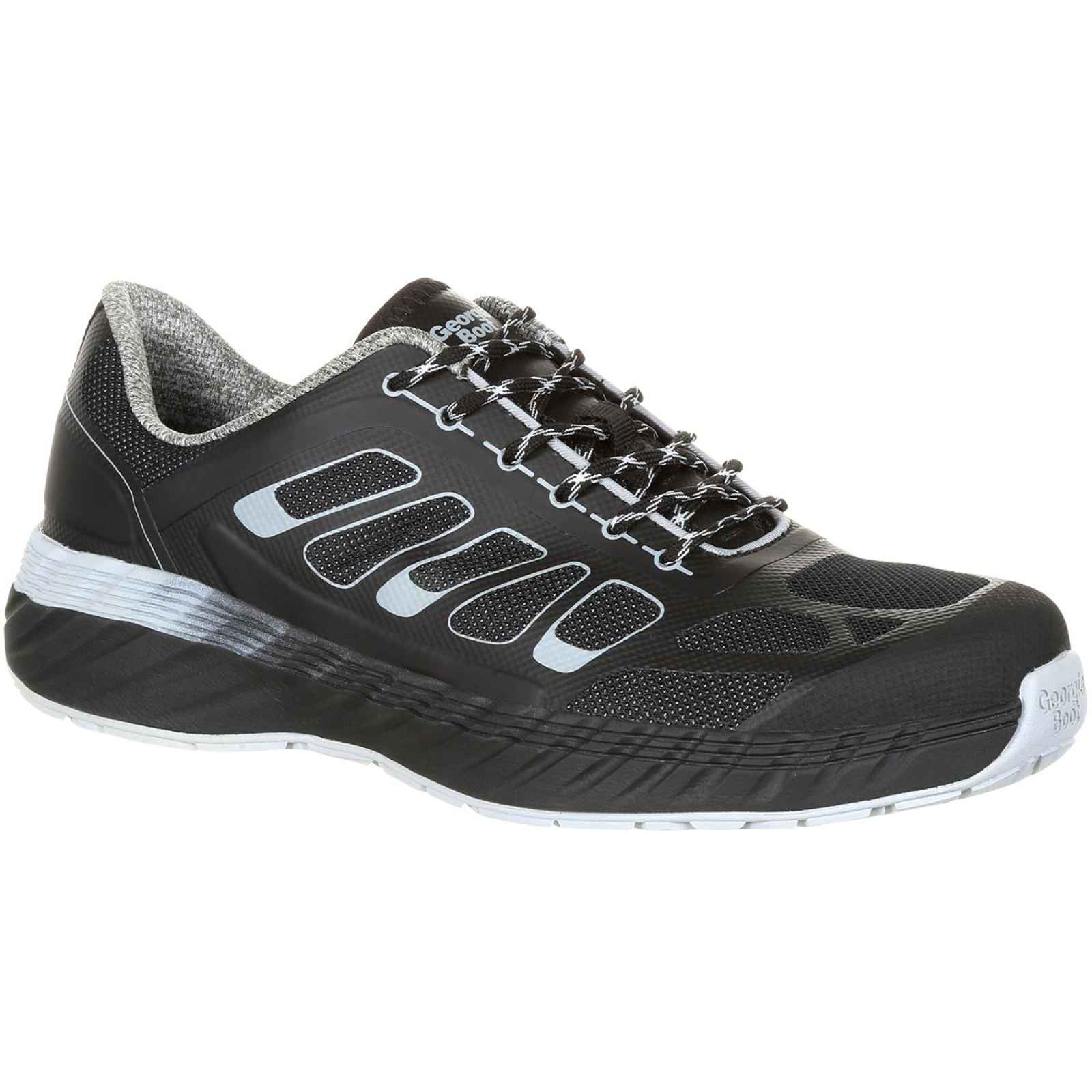 Georgia Boot Men's Black and White ReFLX Alloy Toe Athletic Work Shoe GB00218 by Georgia
