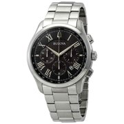 Bulova Classic Chronograph Black Dial Men's Watch 96B288