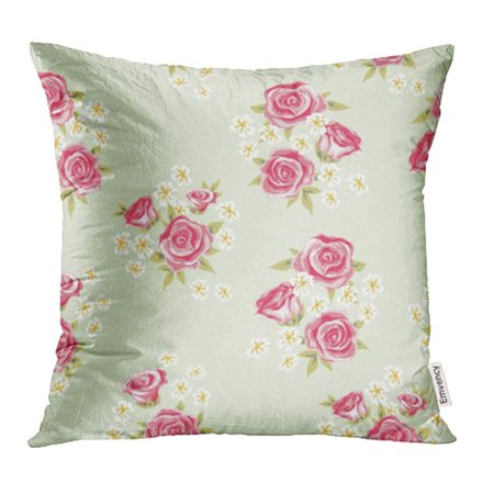 ARHOME Sweet Floral Vintage Shabby Chic Rose Simple Flower You Design Pillowcase Cushion Cases 18x18 inch