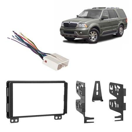 Fit Lincoln Navigator 2003-2006 wo Factory NAV Double DIN Radio Harness Dash Kit