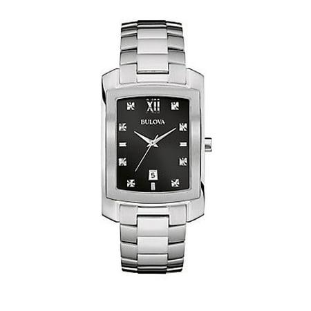 Bulova Men's Diamond Rectangular Bracelet Watch