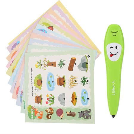 Dilwe Kids Intelligent Learning Cards with Electric Pen Children Preschool Educational Toys, Kids Learning Toy, Kids Learning Pen