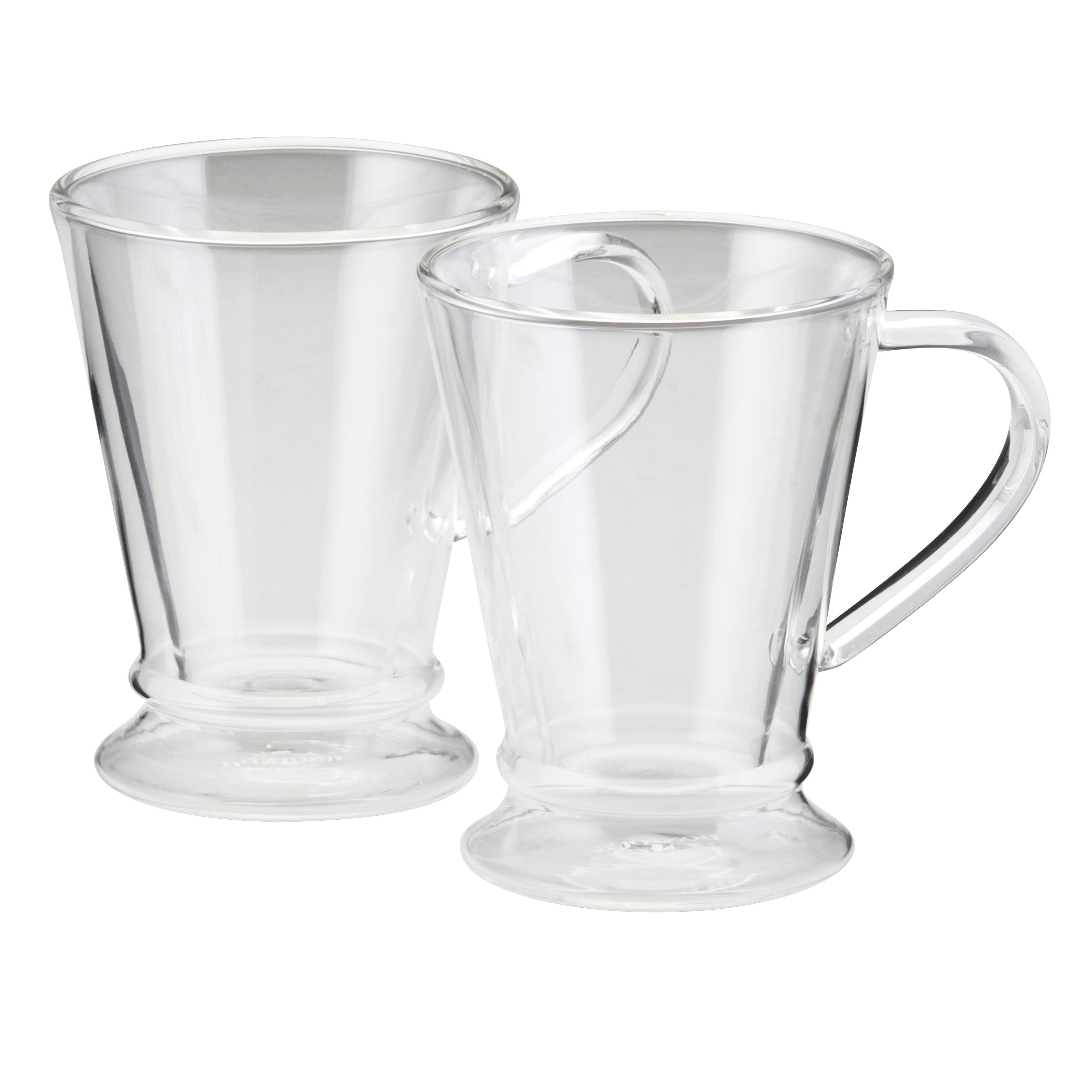 coffee mug set - bonjour(r) coffee insulated borosilicate glass coffee mugs piece set