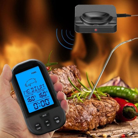 HC-TOP Smart Wireless BBQ Thermometer,Digital Display Instant Read Cooking Grill Meat Thermometer - image 1 of 11