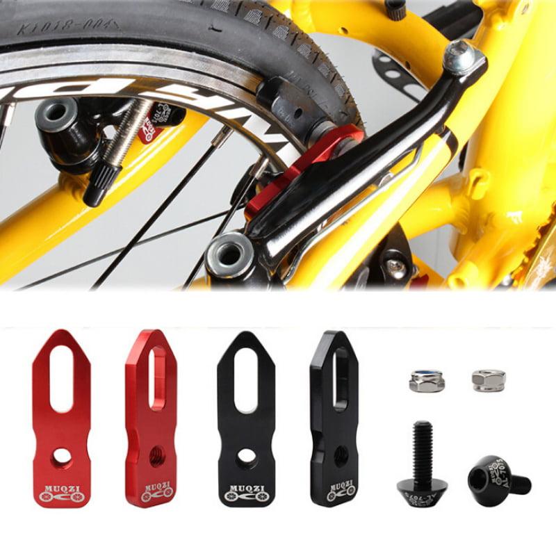 4 pcs Fat-Cat Bike Brake Pads Brake Kit Brake Shoes Pads Cable Guide Protector 70mm Bicycle V-Brake Pad Set Work with MTB V-Brake System 2 Pairs