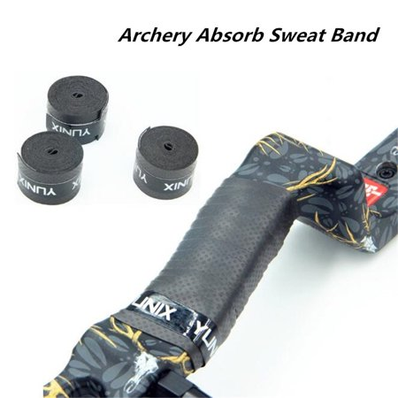 Archery Absorb Sweat Band Non-Slip Stretchy Handle Grip Bow Tape Band Wrap for Compound Recurve