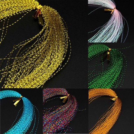 - Outtop Crystal Flash Fly Tying Material Holographic Fishing Lure Tying Making 100Pcs